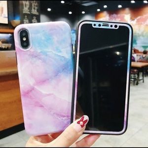 Accessories - 💕Marble Pink Blue Purple iPhone Case 360 protec💘